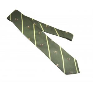 Krawat w stylu  myśliwskim Skogen, haft kaczki