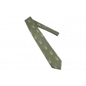 Krawat w stylu myśliwskim Skogen, haft byka