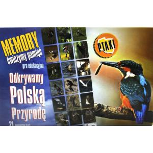 Karty edukacyjna Memory z serii Odkrywamy Polską Przyrodę ptaki