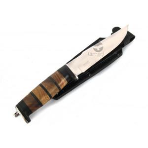 Nóż Kizlyar SH-5, drewno + skóra