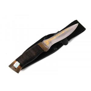 Nóż Zlatoust Delfin skóra i złoto