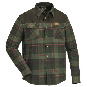 Koszula Pinewood Douglas terakota/zielony